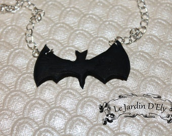 Batman symbol necklace