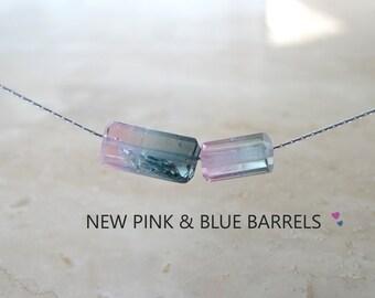 Blue Tourmaline necklace Raw stone Raw Tourmaline rough crystal Raw indicolite  Raw gemstone Rough Bi-color Tourmaline jewelry Gift for her