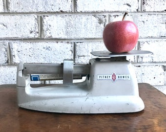 Vintage Pitney Bowes Postal Scale | PB Postal Air Mail Scale | Industrial Decor | Metal Counter Weight Scale | Postage Scale |