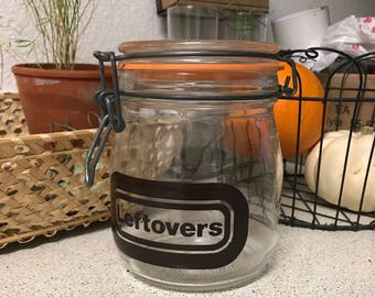"""Vintage apothecary jar """"leftovers"""""""
