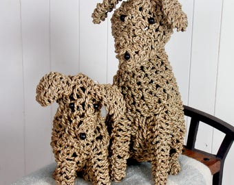 Seagrass Dogs, Small & Large Available, Handmade