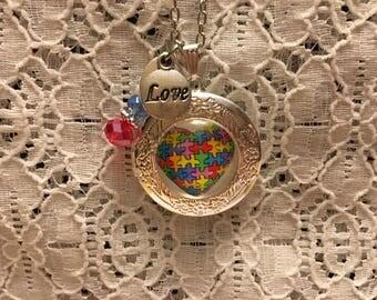 Autism Awareness Charm Pendant Locket/Autism Awareness Locket/Lockets/Autism Awareness Pendant/Autism Awareness/Autism Awareness Jewelry