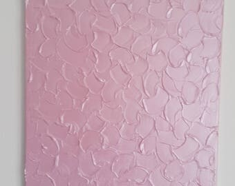 pink acrylic painting, metallic effect, textured painting, modern art
