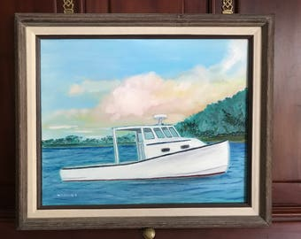 Lobster Boat an Original Oil Painting by Wayne Collier