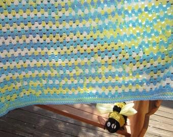 Lavishly Lovely Crocheted Baby Blanket