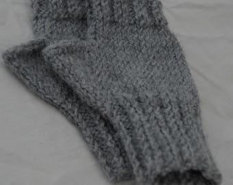 Women's Fingerless Gloves - Grey