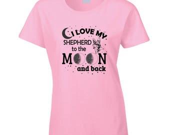 I Love My Shepherd Black T Shirt