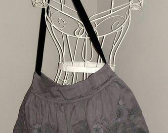 Repurposed Skirt tote bag