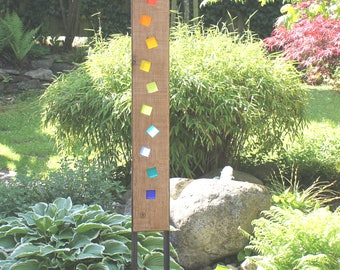 Garden Sculpture Wood and glass