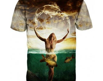 New ultramodern 3D  High Quality Women with Carp  Mens T-shirt