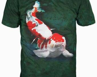 New Ultramodern 3D Printed High Quality Big Fish Men's green T-shirt