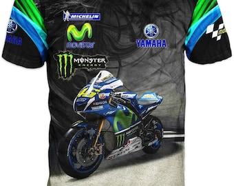 New Ultramodern 3D High Quality Motor Yamaha Mens  T-shirt