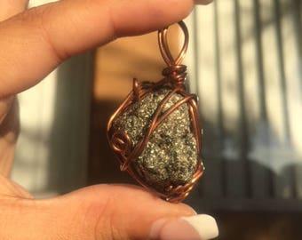 Pyrite Aura Pendant