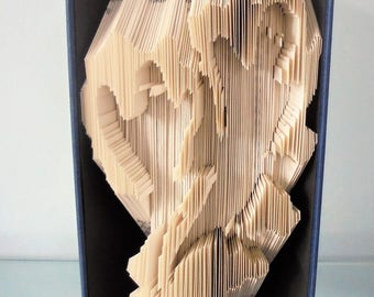 Book Folding PATTERN for a Halloween Ghost