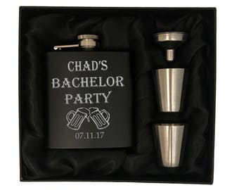 Bachelor Party Flask Sets - Groomsman Flask Sets - Wedding Party Gift Sets - Bachelor Party Gift Sets -Groomsman Gift Set