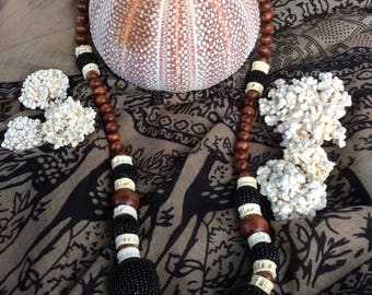 Bohemian necklace made from organic materials