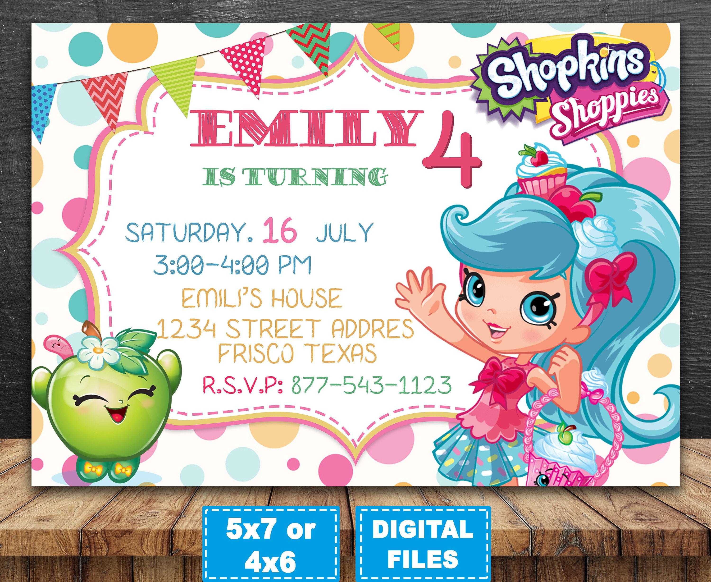 shopkins birthday invitations printable - Keni.candlecomfortzone.com