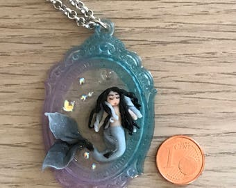 Necklace with siren entirely handmade