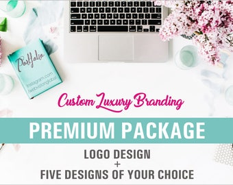 Premium Branding Package, Business Branding, Logo Design plus 5 designs of your choice, Unique Concepts, Ooak Designs