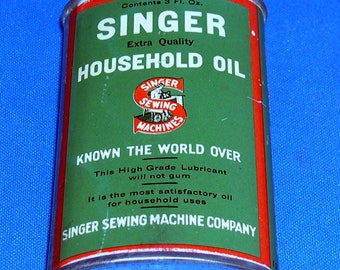 Vintage Singer Household Oil Can - Metal - Sewing Machine
