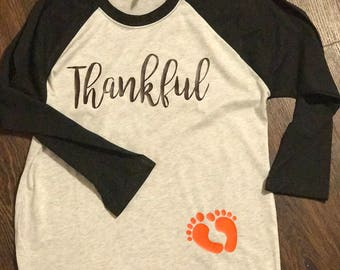 Thankful Pregnancy Announcement Shirt
