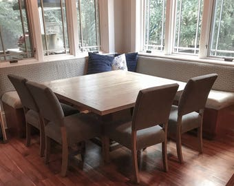 """60"""" Square Pedestal Dining Table"""