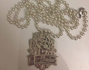 BB necklace with Sterling Silver 925 Harry Potter Gryffindor House Crest