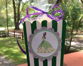 12 Princess and the Frog Mini Party Favor Popcorn Boxes