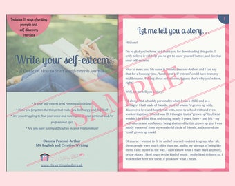 Motivational e-book and planner - Creative Writing Inspiration Journal for self-esteem & self-love,  plus 31 Writing Prompts