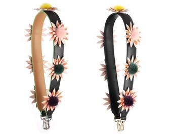 IstrapU- Mink fur shoulder strap, Bag strap leather, Strap you, leather bag strap replacement, leather bag straps