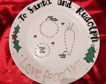 Personalised Christmas Plate - Christmas Eve