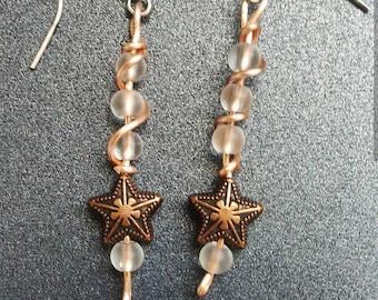 Rose gold twist earrings