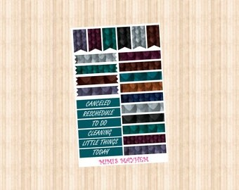 NEW DRAGON SCALE Frames // Washi Strips // Banners // Happy Planner // Erin Condren // Personal