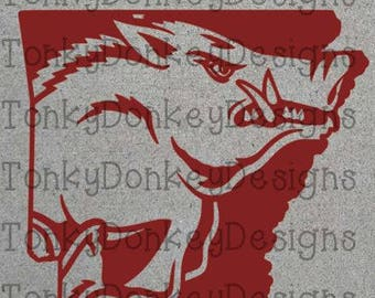 Arkansas Razorback Digital Cut File (dxf, svg, eps, studio3, jpeg) for cutting machines (Silhouette, Brother, Cricut, etc)