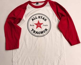allstar teacher raglan