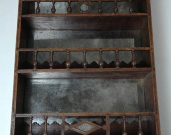 SOLD...Medieval Style Hanging Shelves Unit
