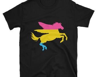 Pansexual Pride Pegasus Unisex T-Shirt lgbtq lgbt lgbtqipa queer gay transgender mogai