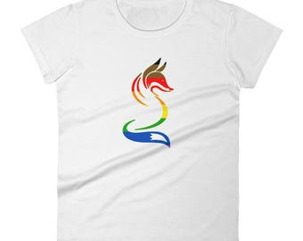 Philadelphia Pride Fox Women's short sleeve t-shirt lgbtq lgbt lgbtqipa queer gay transgender mogai