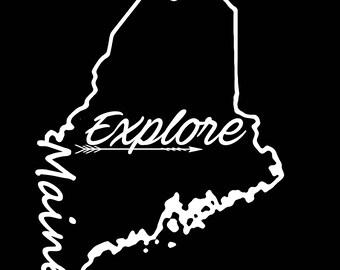 Maine Explore Vinyl Decal