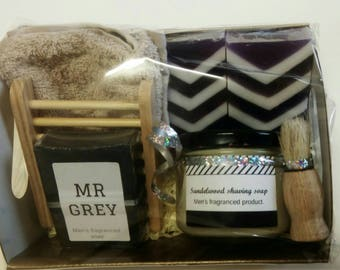 Father's day gift box - football soap gift basket for dad - dad gift - unique dad present - gift for him - freo gift soap pack.