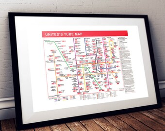 The Manchester United Tube Map