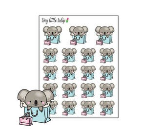 Planner Stickers Koala Shopping
