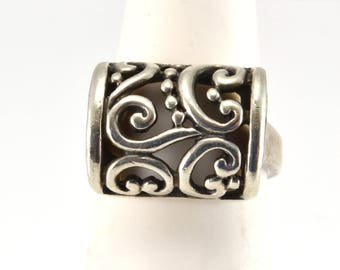 Scroll Ring, Size 6, Sterling Silver, Vintage Ring