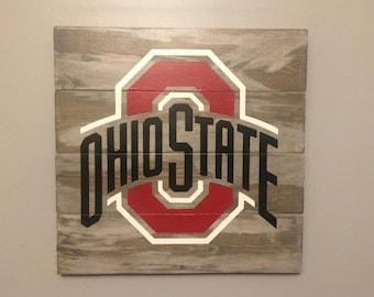 Ohio State Wall Art wood wall art | etsy