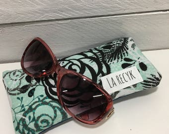 Case, sunglasses, glasses case, turquoise