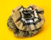 NEW! GUCCI & BURBERRY Scrunchie Set ⋆ 100% Authentic Designer Fabric Handmade Womens Hair Tie Accessories High Fashion Street Luxury Brand