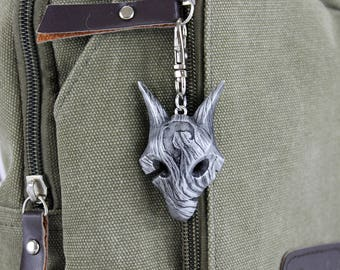 Kindred Wolf Mask League of Legends Aluminum Keychain/Necklace
