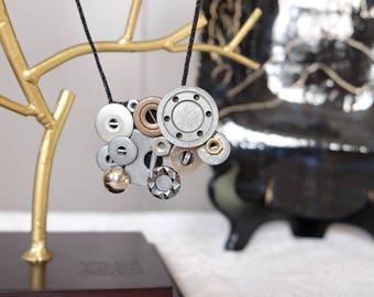 Silver Cogs Necklace