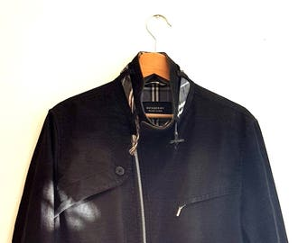 Burberry Black Label Cotton Corduroy  Jacket with Chequered Lining, sz. L