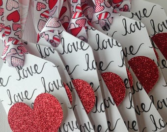 Valentines love gift tags